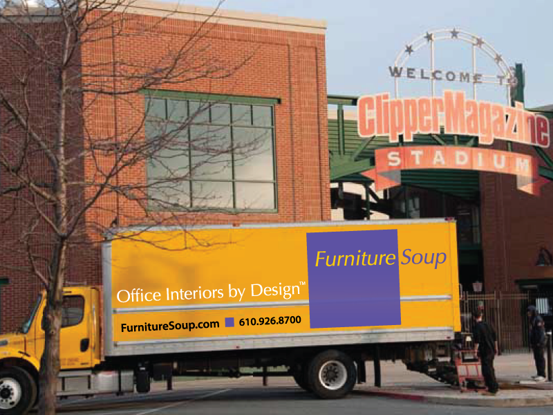 Furniture Soup delivering new furniture of Lancaster Barnstormers stadium